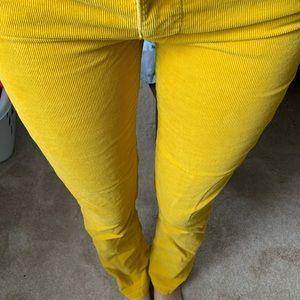 Denim - mustard jeans